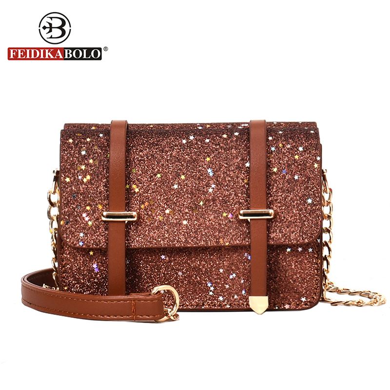 Fashion Lady Bright Star Pure Leather Small Flap Shopping Shoulder Bags Famous Desiger PU Leather Croccbody Bags For Women New