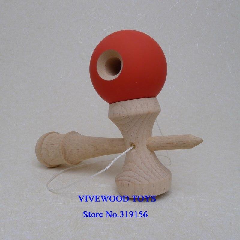 Резиновая кендама, Традиционная японская Kendama 18 см Kendama(резиновая краска, лучшее трение) из бука, Pro Kendama