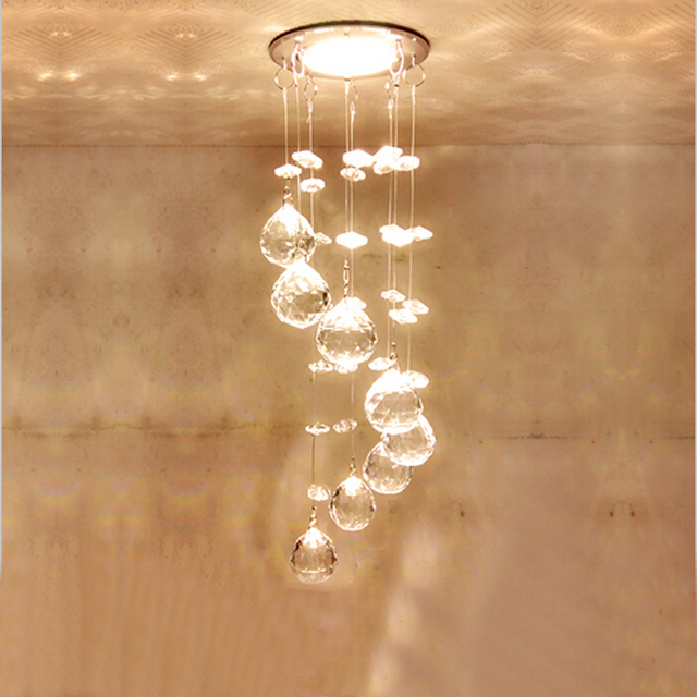 Modern led chandelier luxury crystal down light lamp lustres for modern led chandelier luxury crystal down light lamp lustres for living room bedroom ceilingdecor indoor lighting aloadofball Choice Image