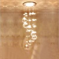 Modern LED Chandelier Luxury Crystal Down Light Lamp Lustres for Living Room Bedroom CeilingDecor Indoor Lighting AC110 240V