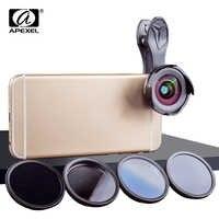 APEXEL corredo dell'obiettivo di macchina fotografica del telefono HD professionale wide angle/macro lens con grad filter CPL filtro ND per android ios smartphone