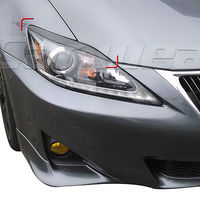 Carbon Fiber Front Headlight Cover Eyelid Eyebrow For Lexus IS250 IS300 2006 2012