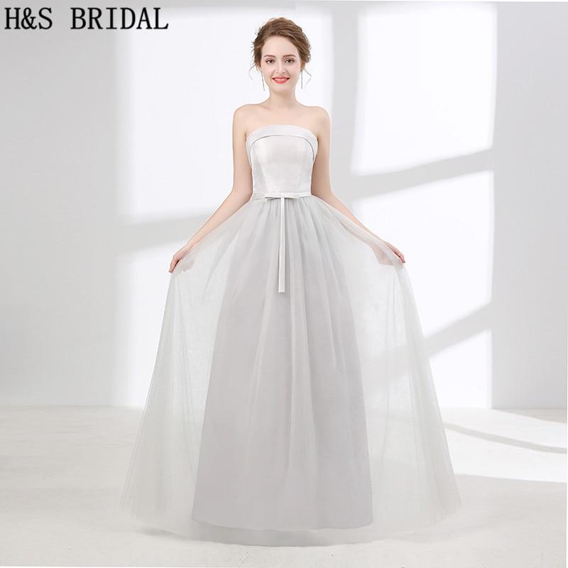 H&S BRIDAL Simple Cheap bridesmaid dresses Satin bridesmaid dresses long brautjungfer kleider