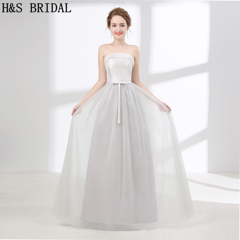 H&S BRIDAL Simple Cheap   bridesmaid     dresses   Satin   bridesmaid     dresses   long brautjungfer kleider