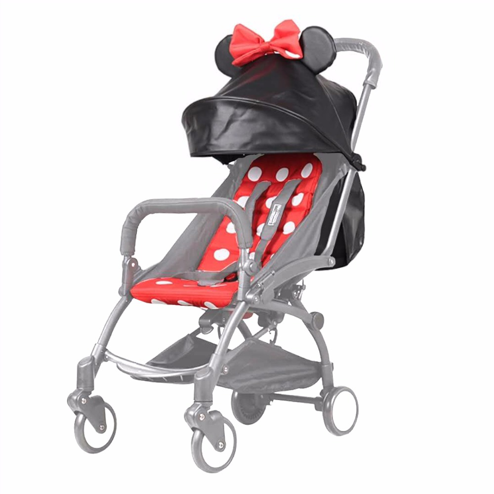 Cute Style Universal Baby Stroller PU Leather Sunshade