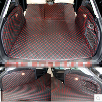 Good Carpet Special Trunk Mats For Audi A4 Allroad B8 2015 2008 Waterproof Durable Boot Carpets