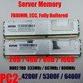 Память сервера 4GB 2Rx4 PC2-5300F FB-DIMM 8GB DDR2 800MHz PC2-6400F ECC FBD 16GB 667MHz полностью Буферизованный DIMM 240pin 5300 RAM