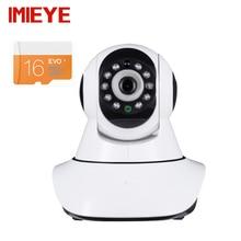 Imieye 2-мегапиксельная 1080 P full hd wi-fi беспроводная ip-камера имеет 16 г карты P2P CCTV КАМЕРЫ Видеонаблюдения Сигнализация Pan Tilt Zoom ИК Ночного видение