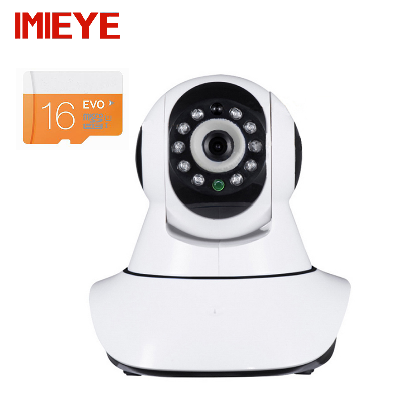 Buy IMIEYE 2MP 1080P Full HD Wifi IP Camera Wireless Has 16G Card P2P CCTV Security Surveillance Alarm Pan Tilt Zoom IR Night Vision