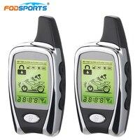 Fodsports Motorcycle Alarm System Motorbike Long Range Distance Remote Engine Star 2 Way LCD Alarm Theft