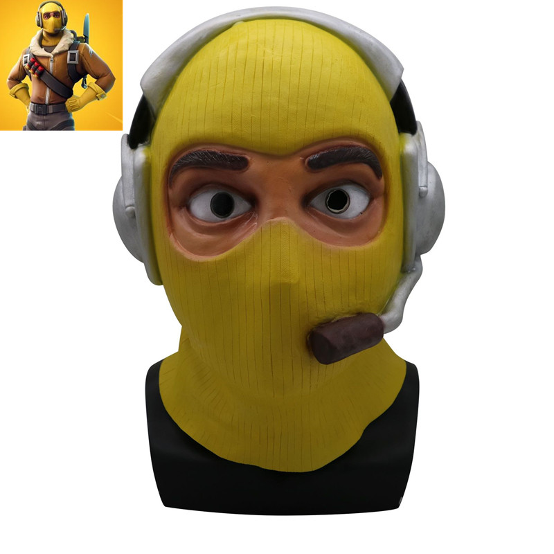 New TPS Game Battle Royale Raptor Legend Skin Cosplay Mask Royal Pilot Full Face Latex Masks Halloween Cosplay Props Mask Party