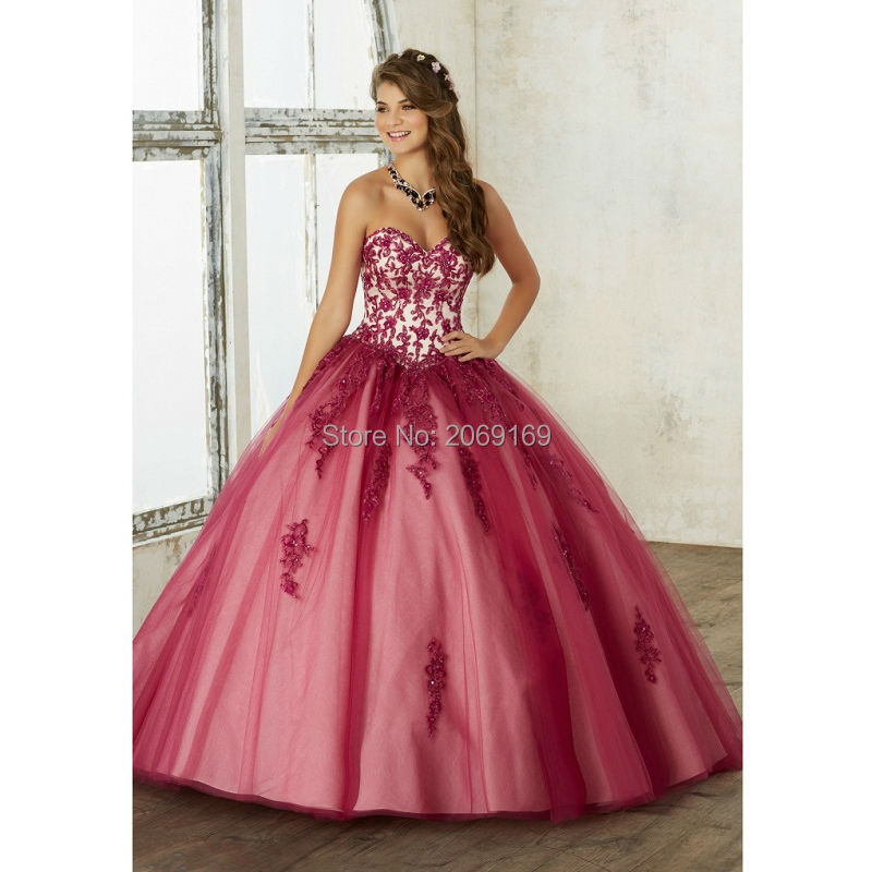 Popular Dark Red Quinceanera Dresses-Buy Cheap Dark Red ...