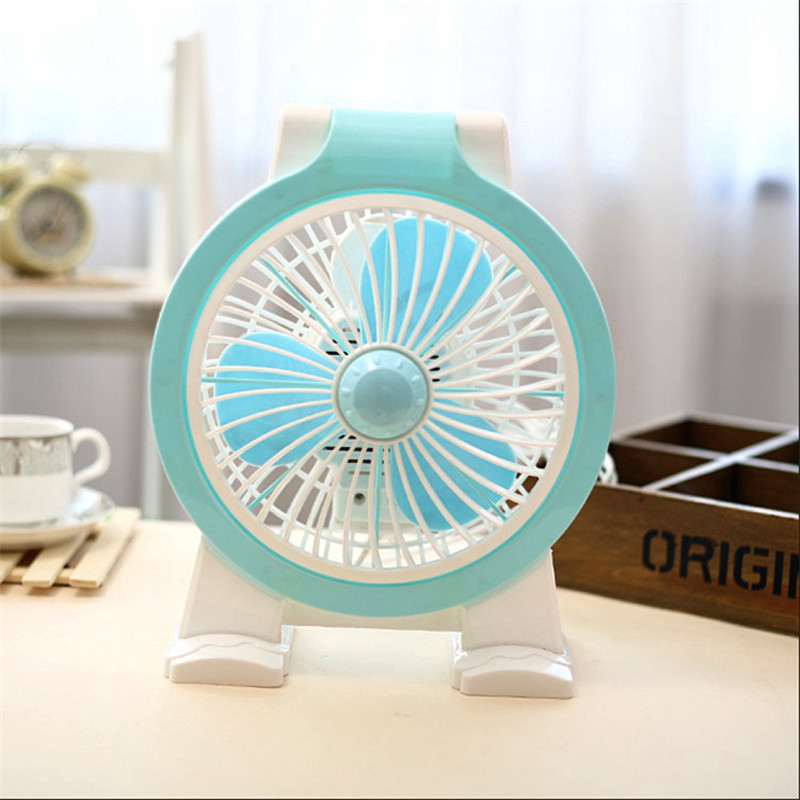 Table Portable Rotary Fan Gift Rechargeable Office Desk Electric Turning Dormitory Energy Saving Silent Desktop Fan