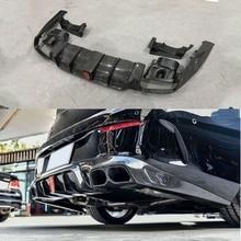 Углеродного волокна заднего бампера для губ свет диффузор с глушитель советы для Mercedes Benz W238 E63 AMG Coupe B Стиль