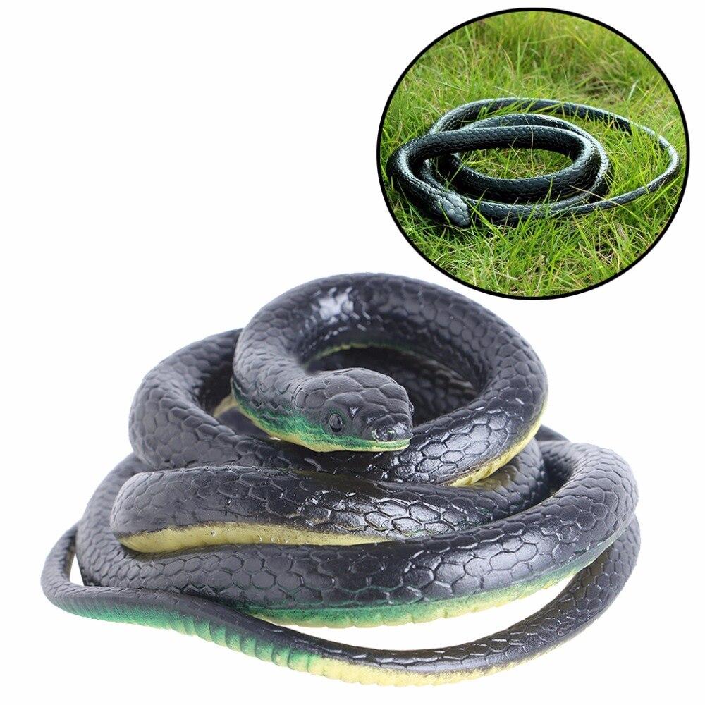 HBB 130cm Realistic Plastic Tricky Toy Fake Snakes Garden Props Joke Prank Halloween