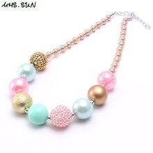 c84a8412fcb5 ¿MHS  sol nuevo niño niños cuentas grueso collar color de caramelo bubblegum  collar de perlas bebé chicas vestido de fiesta 1 pi.
