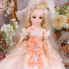 DQ bjd doll 45cm Diary Queen 1/4 bjd doll, blonde hair doll champagne clothes hat shoes headdress handsets joint body white skin(China)