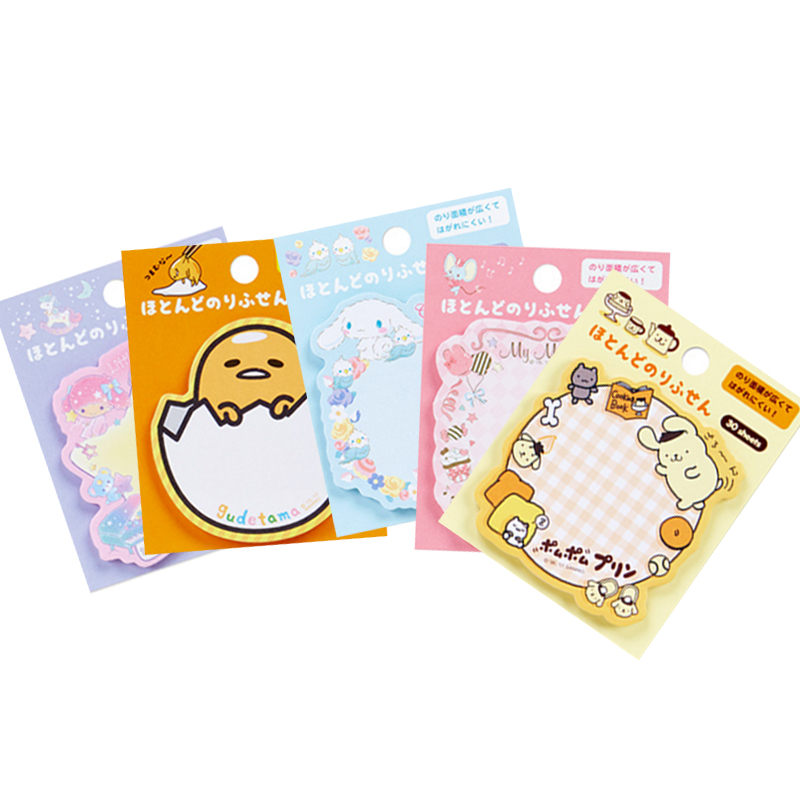 30packs/lot kawii cartoon Japanese adhesive memo sticky bookmark notepad cute memo pad for school and office suppliers wholesale