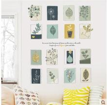 Fashion and fresh leaves frame wall stickers Simple art can be quite warm simple but elegant of bedroom the head