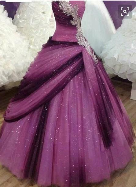 Vestidos de 15 anos vestidos Quinceanera Bling querida prateado cristais vestidos de baile roxo doce 16 vestidos para festa