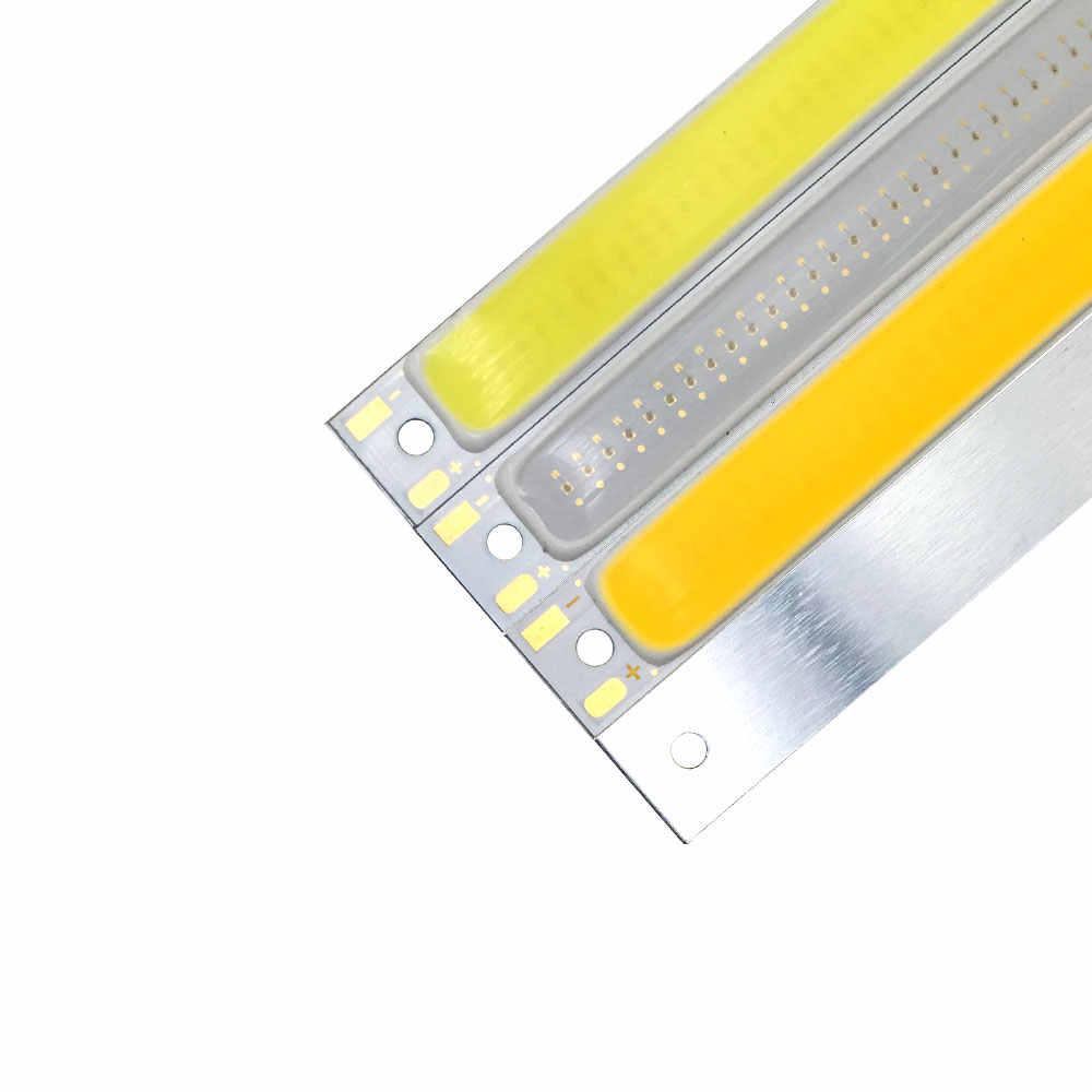 バッテリ駆動 1 ワット 3 ワット COB 電球キット 3.7V LED 光源 60 ミリメートル 2.36in ストリップバー LED チップ仕事ランプバイクボート車のライト