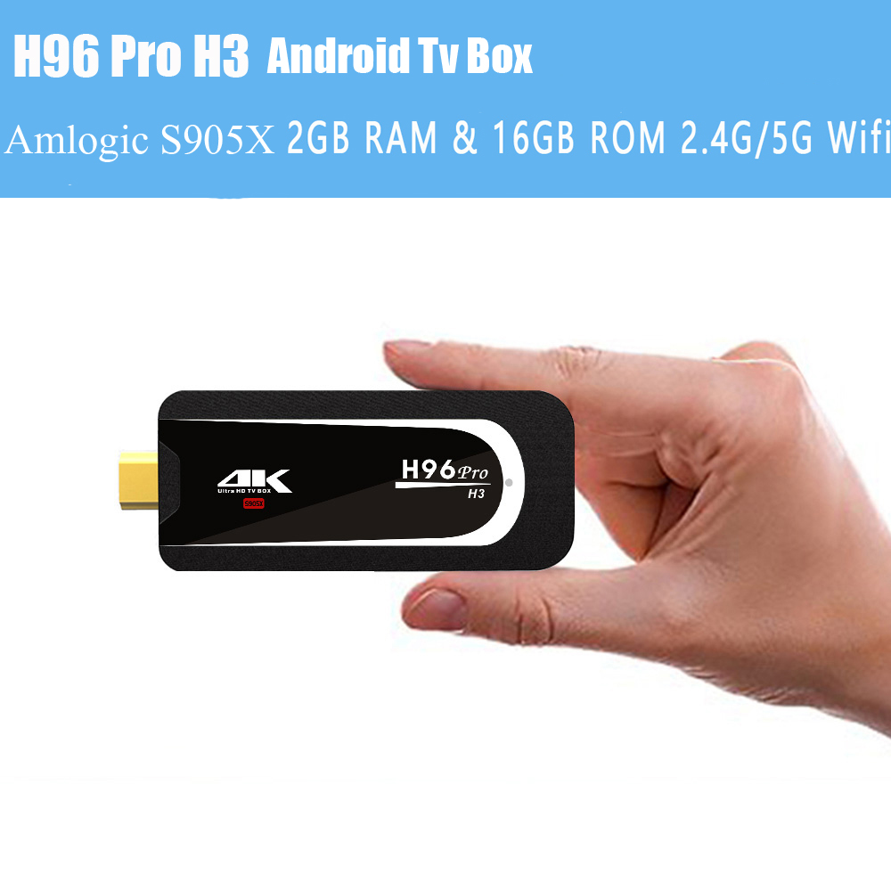 H96 Pro-H3 Android Tv Box Mini TV Box Android 7.1 Kodi Bluetooth 4.0 Amlogic S905X Quad Core ARM Cortex A53 Media Player newest h8 android 6 0 tv box amlogic s905x quad core cortex a53 2g 8g smart android tv box