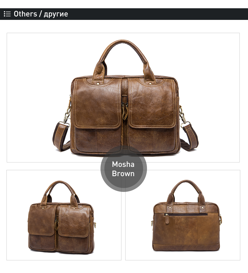 WESTAL office bag for men briefcases genuine leather laptop bag for document men's bags lawyer work bags leather briefcases 8002