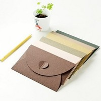 South Korea Stationery Retro Creative Color Love Pearl Large Thick Color Branded Envelope 17 5 11