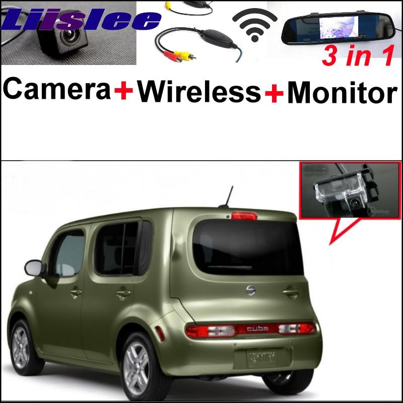 3 в 1 специальный Камера заднего вида + беспроводной приемник + зеркало монитор легкое DIY резервного копирования система парковки для Ниссан куб Z12 2008~2014