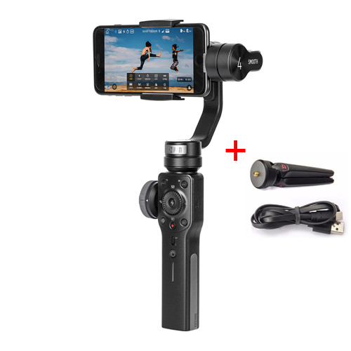 Zhiyun Smooth 4 with Tripod Smooth Q 3-Axis Handheld Gimbal for Smartphone for iPhone X 8 Vertigo Shot PhoneGo Mode for Samsung x cam sight2 2 axis smartphone handheld stabilizer mobile phone brushless gimbal with bluetooth for iphone samsung xiaomi nexus