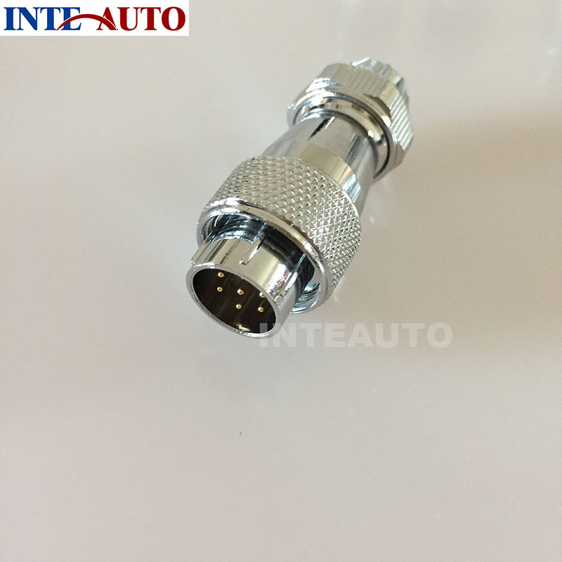 Cross WF16 serie aviation 7pins plug ,IP67, outdoor male welding waterproof weipu connector, with metal clamping nut welding 4 pins core aviation circular connector plug 500v 50a