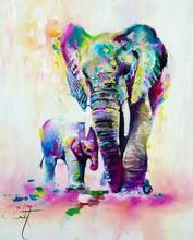 DIY 5D Diamond Mosaic Painting Elephant Crystal Drawing  Embroidery Cross Stitch Animals Series Home Decor F1564