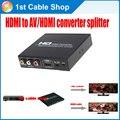 HDMI к RCA CVBS AV композитный видео конвертер splitter скейлер для XBOX360, PS3 и т. д. поддерживает AV/HDMI дисплей одновременно
