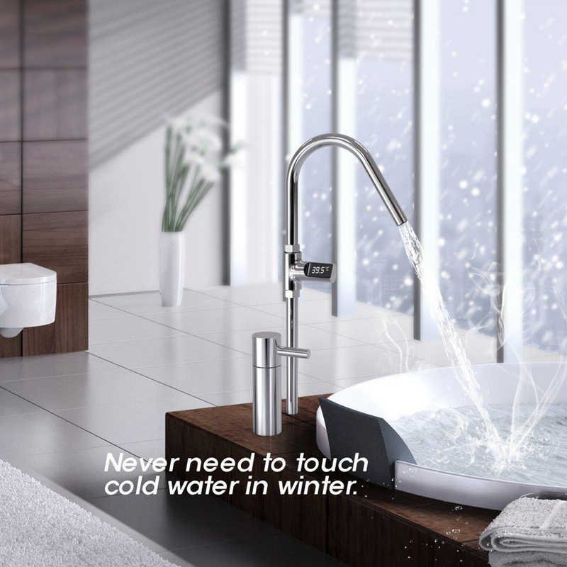 LED ekran akıllı ev su duş termometre akış kendinden üreten elektrik su sıcaklık ölçer monitör çocuk yetişkin
