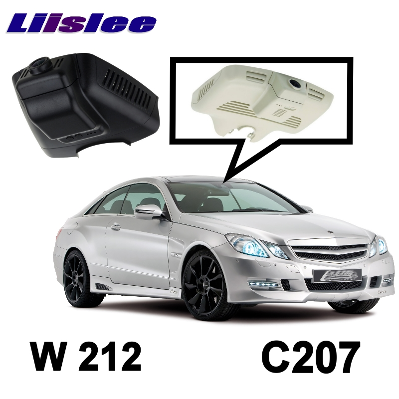 LiisLee Car Black Box WiFi DVR Dash Camera Driving Video Recorder For Mercedes Benz E Class MB W212 W207 C207 2009~2016  free ship camcorder car for mercedes benz s class 2007 12 middle configuration car dvr camera with one lens and obdii adapter
