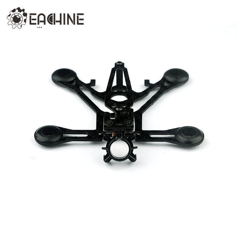 Eachine QX95S Micro DIY 1.5mm 3K Carbon Fiber Frame Kit For 8520 Coreless Motor 55mm Propellers RC Quadcopter FPV Racer Drone eyas 55 7mm 8mm pure carbon fiber brush coreless quadcopter frame for diy fpv micro indoor mini drone with camera