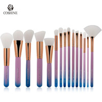 Coshine New Arrival 15pcs Nylon Hair Pantone Gradient Color Makeup Eyeshadow Loose Powder Foundation Blush Cosmetic