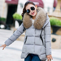 22cm Width Large Real Natural Raccon Fur 2016 New Fashion Winter Jacket Women Irregular Loose Down Parka Warm Female Jacket