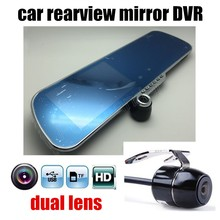 New 5 inch Rearview Mirror Car Rear view Full HD 1080P car DVR dual lens video