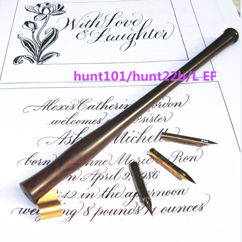 все цены на Rosewood Dip Pen Nib Holder with 3 nibs LEF 101 22B English Oblique Calligraphy Copperlate Dip Pen Set онлайн