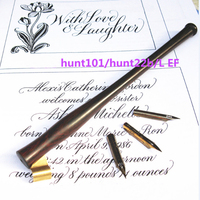 Rosewood Dip Pen Nib Holder with 3 nibs LEF 101 22B English Oblique Calligraphy Copperlate Dip Pen Set