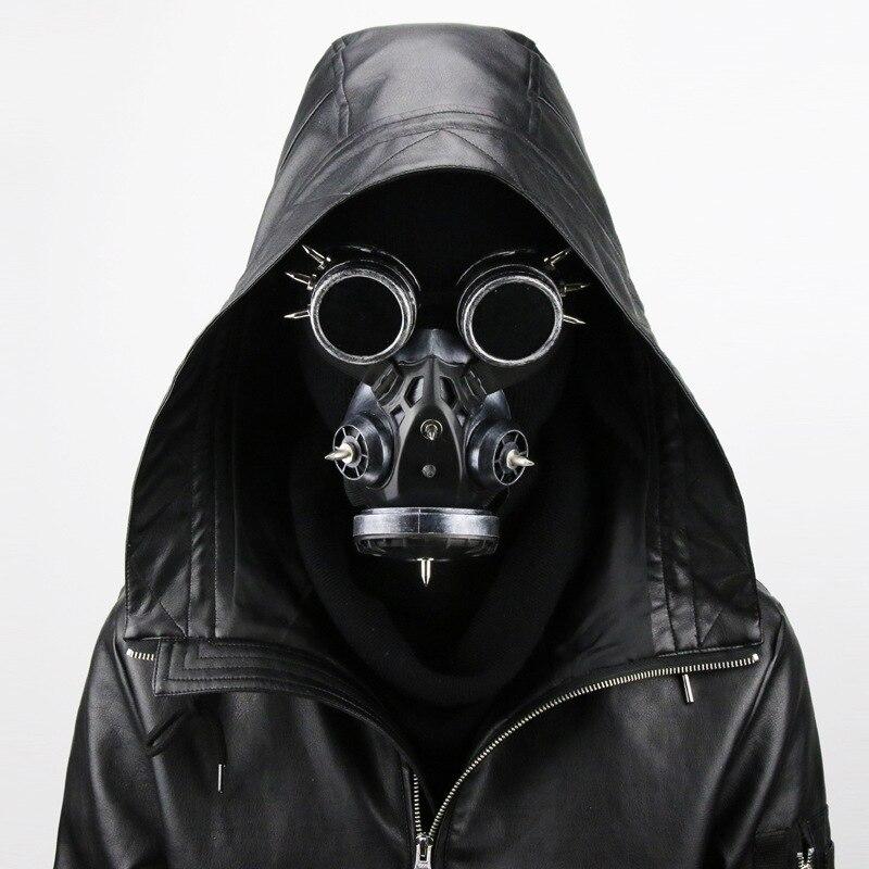 Vintage Argento/Nero Metallics Resina Occhiali Steampunk e Maschera Antigas Donne/Uomini Cosplay Costume di Halloween Accessori Gotico Maschera