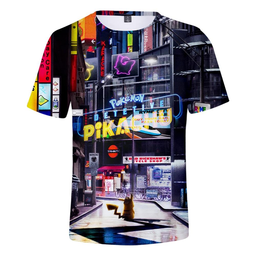 Pokemon Detective Pikachu 3D Printed   T  -  shirts   Women/Men Fashion Summer Short Sleeve Tshirt 2019 Casual Streetwear   T     shirts