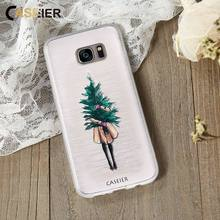 CASEIER Christmas Phone Case For Samsung S6 S7 edge S8  Soft TPU Plus Note 8 Funda Accessories