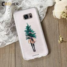 CASEIER Christmas Phone Case For Samsung S6 S7 edge S8  Soft TPU Plus Note 8 Funda Accessories
