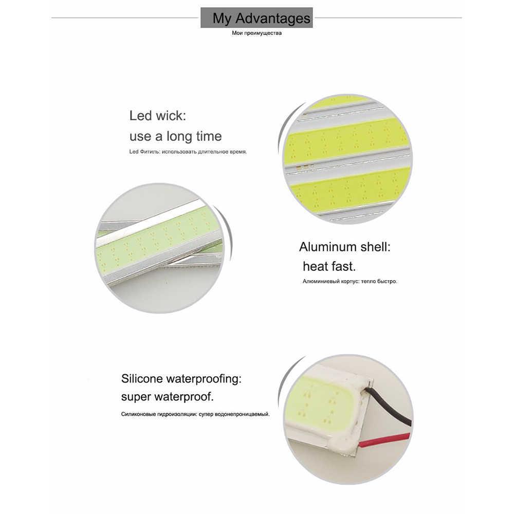 GEETANS 1PCS COB LED Daytime Running Lights DRL 14-17cm Waterproof  Auto Front Driving Fog Lamp car styling Source 7 colors EC