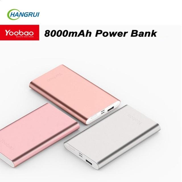Yoobao banco do poder 8000 mah usb bateria de backup externo para iphone 6 6 s plus para xiaomi powerbank carregador portátil universal
