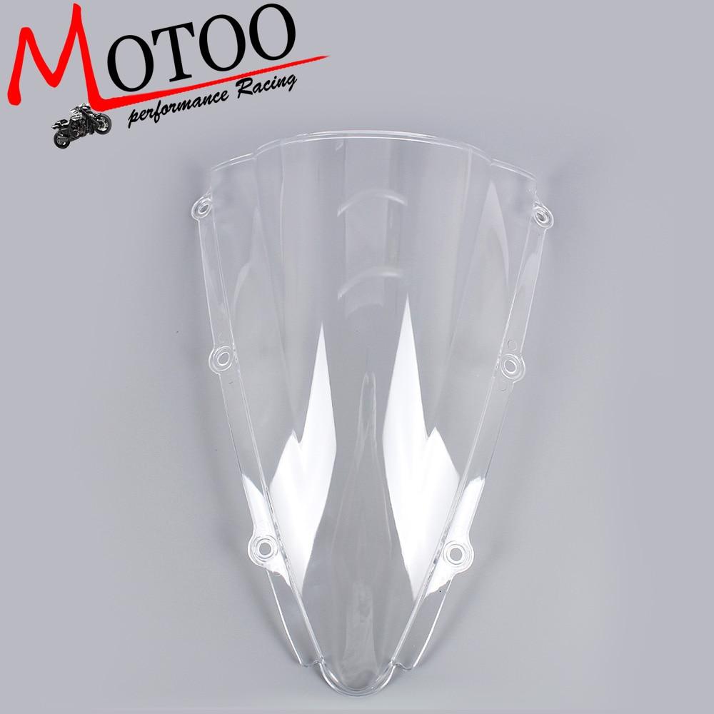 Motoo -Windshield WindScreen Double Bubble for YAMAHA YZF-R1 R1 2000 2001 motoo windshield windscreen double bubble for honda cbr600rr f4 1999 2000
