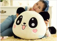 big lovely plush lying panda toy smile panda doll with hearts on face gift about 80cm
