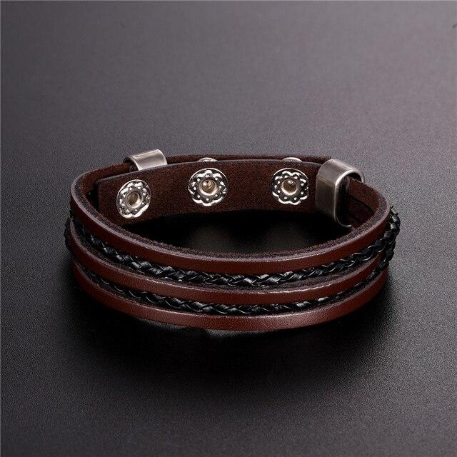Фото новый модный мужской браслет из сплава с магнитной пряжкой высококачественный цена